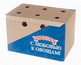 Box for canned vegetables